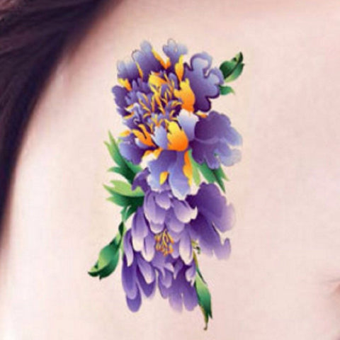 Lilac Flower Temporary Tattoo
