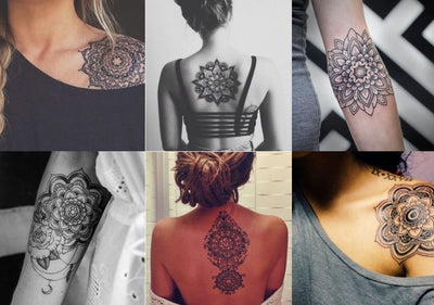 Aponi Black Henna Mandala Temporary Tattoo