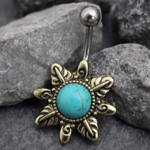Skyee Turquoise Belly Ring