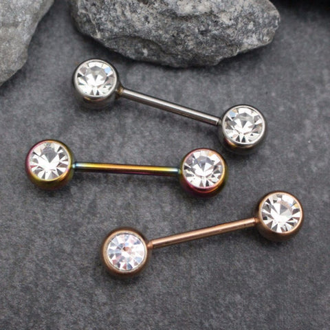 Crystal Nipple Piercing Jewelry