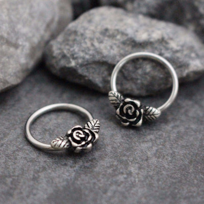 Victorian Rose Captive Bead Ring 14G