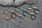 16G Titanium Segment Ring for Septum Ring, Cartilage Ring, Helix Ring, Tragus Piercing, Conch Hoop, Rook Earring, Daith Piercing, Nipple Ring, Lip Ring, Eyebrow Ring, Bridge Piercing, Hinged Septum Ring