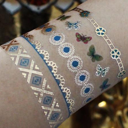 Metallic Gold Bracelet Temporary Tattoos
