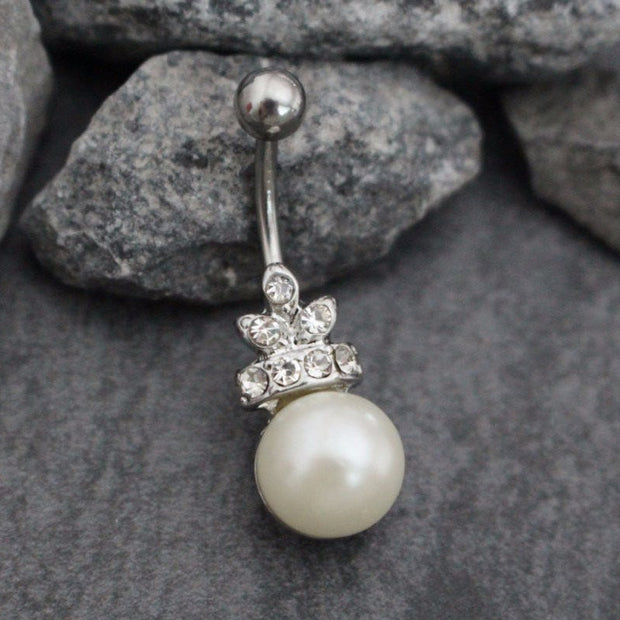 Gabriela Pearl Belly Button Jewelry