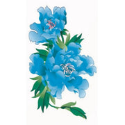 Realistic Watercolor Blue Floral Flower Temporary Tattoo Ideas for Women -  Ideas de tatuajes con hermosas flores florales azules para mujeres - www.MyBodiArt.com