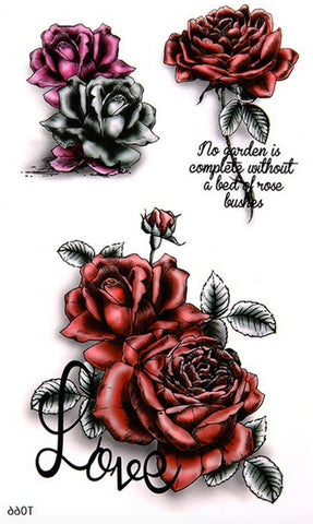 Gothic Rose Temporary Tattoo Should Tattoo Flower Tattoo