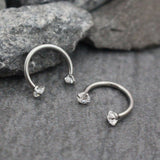 Swarvoski Crystal Septum Piercing, Rook Earring, Eyebrow Ring, Daith Earring, Lip Ring at MyBodiArt