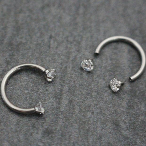 Swarvoski Septum Ring Horseshoe, Septum Jewelry 16G, Rook Piercing, Lip Ring, Eyebrow Piercing, Daith Earrings,Horseshoe Barbell,Nipple Hoop