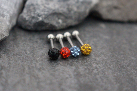 Lola Crystal Ferido Ball 16G Ear Piercing