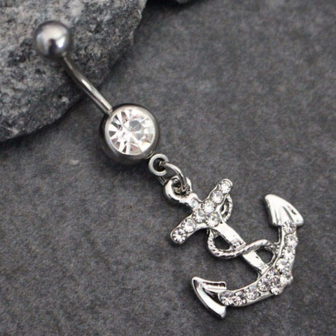Catchem Belly Ring In Silver