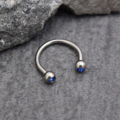 Septum Ring, Septum Jewelry, Lip Piercing, Lip Ring, Eyebrow Ring, Eyebrow Piercing, Nipple Hoop, Horseshoe Septum, Smiley Piercing, Blue