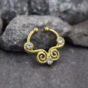 Gold Tribal Fake Septum Ring
