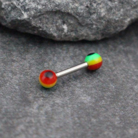 Rainbow Cartilage Earring, Tragus Barbell, Helix Stud, Cartilage Jewelry, Tragus Piercing, Helix Earring, Forward Helix, Triple Helix