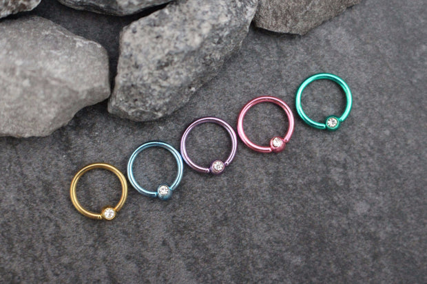 Captive Bead Rings, Cartilage Ring, Helix Hoop, Cartilage Hoop Earring, Helix Ring, Tragus Earring, Tragus Jewelry, Daith Piercing Rook Earring,Lip Ring Eyebrow