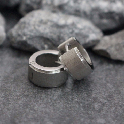 Thick Earrings for Men, Huggie Earrings, Small Silver Hoop Earrings, Mens Earrings, Mens Jewelry, Stainless Silver Hoop Earrings, Male Boys