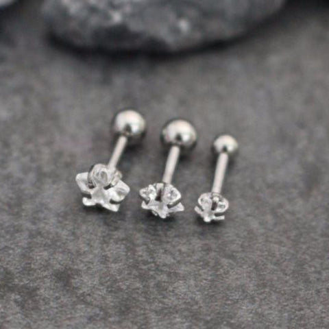 Star Tragus Earring, Cartilage Earring, Helix Earring, Cartilage Stud, Tragus Stud, Helix Piercing, Tragus Jewelry,Cartilage Piercing,Silver
