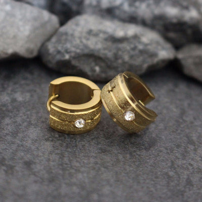 Gold Mens Earrings, Stainless Steel Earrings, Small Hoop Earrings, Earrings for Guys, Guys Earrings, Earrings for Men, Mens Studs, Huggie