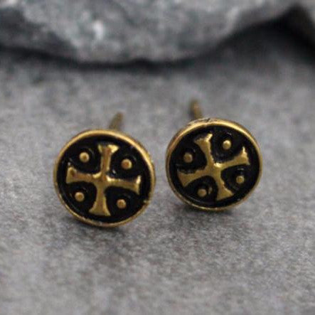 Tablita Mens Tribal Stud Earrings