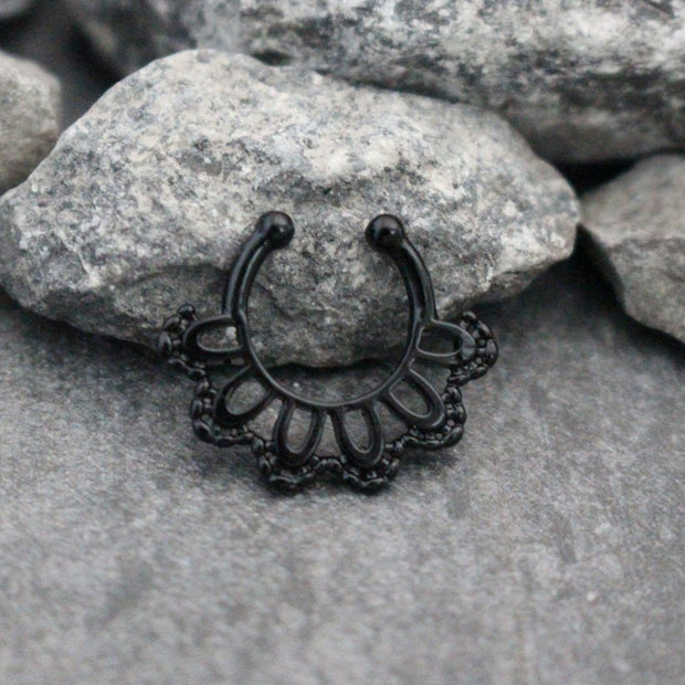 Fake Septum Piercing, Tribal Fake Septum Ring, Faux Septum Ring, Body Jewelry, Fake Piercing, Faux Piercing, Fake Nose Ring