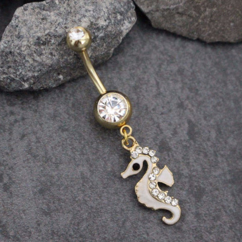 Horsy Seahorse Belly Ring