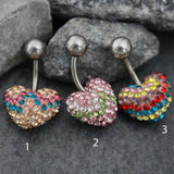 Heart Belly Button Ring Stud