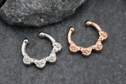 Tribal Septum Ring, Fake Septum Piercing, Fake Septum Ring, Faux Septum Ring, Body Jewelry, Fake Piercing, Faux Piercing, Fake Nose Ring