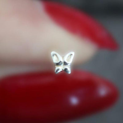 Butterfly Nose Piercing Jewelry in Silver
