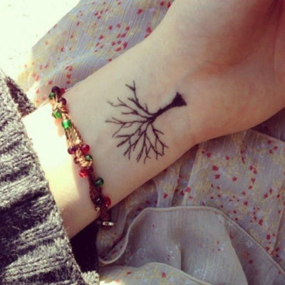 Women's Oak Tree Wrist Tattoo Ideas  - Small Simple Minimalistic Tiny Tats at MyBodiArt.com