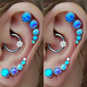 Cute Multiple Ear Piercing Ideas for Women Flower Captive Bead Ring Daith Earring Ring Hoop - www.MyBodiArt.com