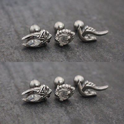 Chunk Victorian Ear Piercing Jewelry Ideas Earrings for Women - www.MyBodiArt.com