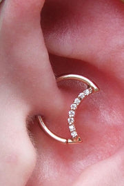 Hydra Crescent Moon Crystal 18G Ear Piercing