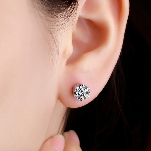 Circle Crystal Earring Stud Jewelry for Women - www.MyBodiArt.com