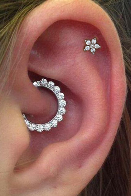 Cute Daith Ear Piercing Jewelry Ideas for Women - www.MyBodiArt.com #piercings