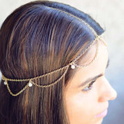 Cute Hair Styles - Bohemian Boho Bridal Bride Hair Jewelry Accessories - Hair Style Ideas at MyBodiArt.com