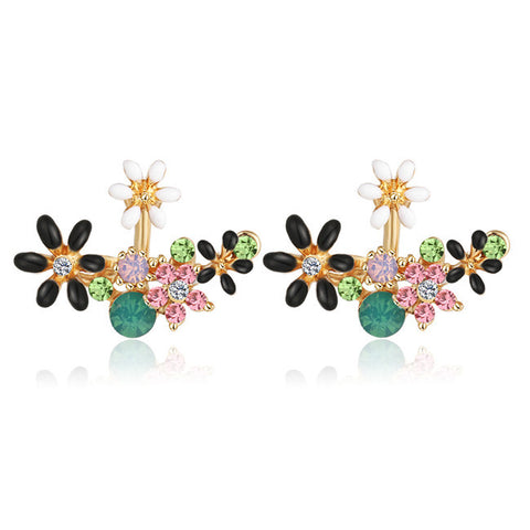 Cool and Unique Multiple Ear Piercing Ideas - Flower Ear Jacket Earring at MyBodiArt.com