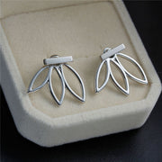 Silver Sunflower Starburst Ear Jacket Earring at MyBodiArt.com