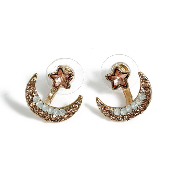 Luna Crescent Ear Jacket Earring