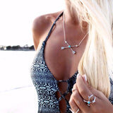 Beach Vacation Outfit Ideas for Teen Fashion - Boho Style Bohemian - Silver Turquoise Arrow Necklace at MyBodiArt.com