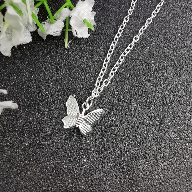 Cute Butterfly Chain Choker Necklace Fashion Jewelry for Women - www.MyBodiArt.com #necklaces