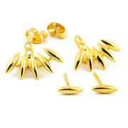 Gold Womens Starburst Spikes Earring Jacket - MyBodiArt.com