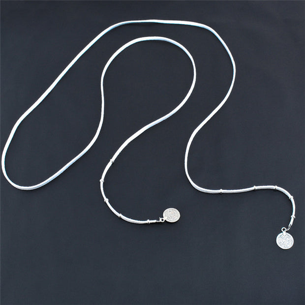 Meadow Medallion Coin Suede Wrap Choker Necklace - White at MyBodiArt.com