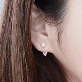 Pearl Ear Jacket Earring - Womens Classy Unique Elegant Simple Ear Piercing Ideas at MyBodiArt.com