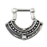 Iggy Septum Clicker 16G Crystal Fan at MyBodiArt.com - Silver Septum Piercing Jewelry