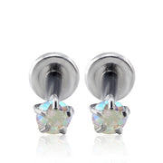 Jaden Aurora Borealis Crystal 16G Barbell Ear Piercing Jewelry at MyBodiArt.com