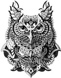 Horned Owl Temporary Tattoo Sheet at MyBodiArt.com