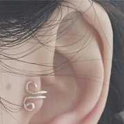 Cute Ear Piercing Ideas - Tragus Piercing Cuff Stud Wired Spiral at MyBodiArt.com