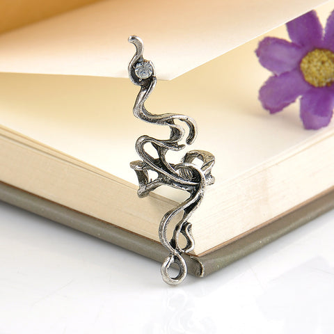 Lavana Antiqued Silver Ear Cuff Earring Conch Piercing Jewelry Gothic Tribal at MyBodiArt.com