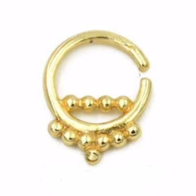 Zuko Tribal Ear Piercing Jewelry Earring Septum Cuff Ring Hoop in Gold Silver Black Rose Gold at MyBodiArt.com