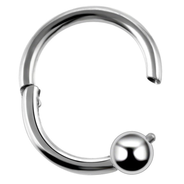 Tornado Segment Ring for Septum Piercing, Tragus Earring, Rook Jewelry, Daith Jewellery, Cartilage Hoop, Helix Ring at MyBodiArt.com