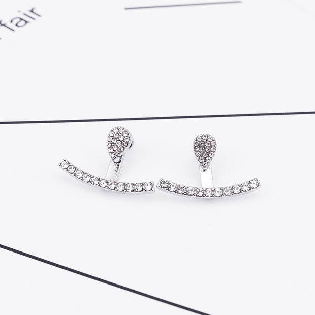 Ear Piercing Ideas for Teenagers Girls - Crystal Minimal Simple Teardrop Ear Jacket Earring -  pendiente mínimo de la chaqueta - www.MyBodiArt.com